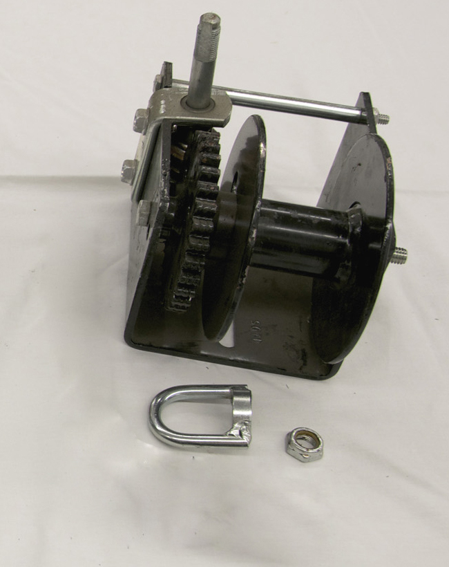 T14 Mounting Kit for Metal Pole with Worm Gear Winch