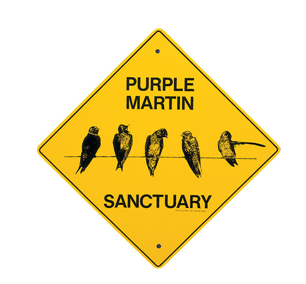 Purple Martin Sanctuary Sign